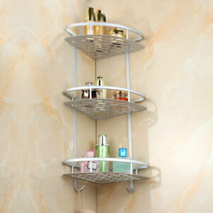 Bathroom Shelf Storage Rack 2/3 Tier Corner Holder Shower Shampoo Tidy Basket