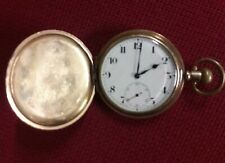 Mens gold plated pocket watch