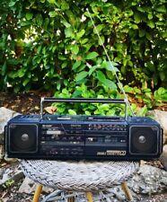 Très Vintage Boombox Ghettoblaster SHARP WQ-CD30 Double Cassette CD Fonctionnel