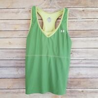 Under Armour Women's Athletic Top Built in Bra Sleeveless Racer Back Size XL