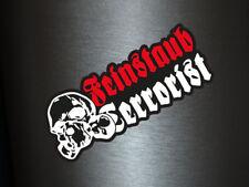 1 x Aufkleber Feinstaub Terrorist Shocker Totenkopf Sticker Tuning Autoaufkleber