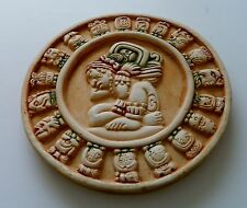 Mexican Mayan Zodiac Astrological Plaster Plaque by Renato Dorfman