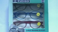 Eyewear 3 Pack 3 Colour Reading Glasses