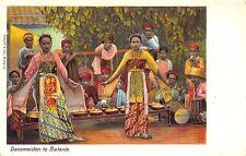 Dansmeiden Te Batavia Tinted Real Photo Rppc Postcard