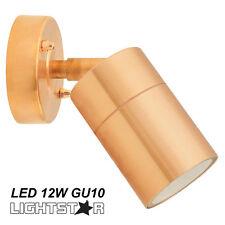 Copper Finish LED Outdoor Exterior Adjustable Tilt Wall Light 240V 12W GU10