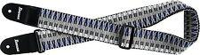 Ibanez Gitarrengurt GSB50-C3 Geflochten blue, white, grey Guitar Strap