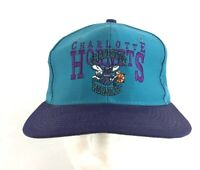 Vintage 90s Snapback Hat Charlotte Hornets NBA Official Product Buzz City NWOT