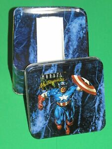1992 MARVEL MASTERPIECES SERIES 1 EMPTY TIN! NO CARDS JOE JUSKO CAPTAIN AMERICA!