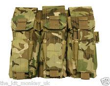 Kombat Triple magazine & Pistol pouch MOLLE fixings in BTP / MTP /Multicam match