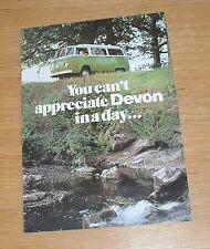 Volkswagen VW Devon Camper Brochure T2 Eurovette Devonette Continental 1976-1977