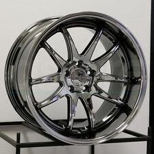 18x10.5 Aodhan DS2 DS02 5x114.3 22 Black Vacuum Wheel New set(4)