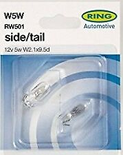 W5W 501 wedge Front Side Light Bulbs 12 volt 5 Watt made by Ring (PE1285)
