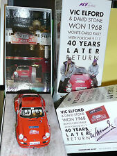 PORSCHE 911T Monte Carlo boxed S.E FLY slot car VIC ELFORD SIGNED - LAST ONE