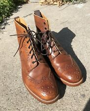 Trickers Stow Boots Brown Made In UK Brogue Shoe England 10 UK 11 US Country