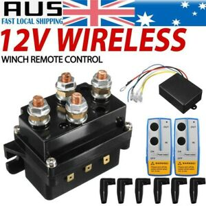 12V 500A Winch Remote Contactor Control Solenoid Relay Twin Wireless Recovery