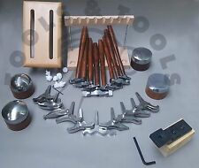 PRO 8 TEXTURING HAMMERS 10 MINIATURE & 4 ANVIL STAKES DESIGNING JEWELRY REPOUSSE