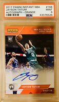 ⭐️ 2017 Jayson Tatum Auto Panini Instant #168 RC PSA 9 🔥One Of A Kind /5 Rookie