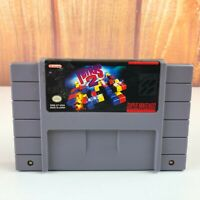 Tetris 2 SNES Super Nintendo Game - TESTED & WORKING AUTHENTIC - FAST FREE SHIP