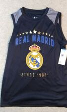Nwt authentic Real Madrid Team logo Tank Top shirt Size Madridista Soccer Ym