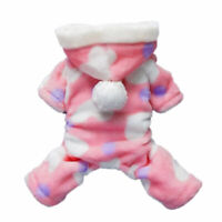 Pink Coat for Dogs Clothes Puppy Warm Hoodie Cats Jumpsuit Soft Cozy Pet Jacket