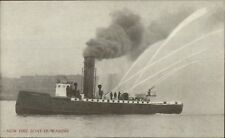 Seattle Fire Boat Duwamish c1910 Postcard EXC COND