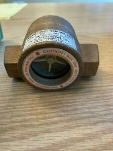 """MIDWEST SIGHT FLOW INDICATOR MODEL 100 SIZE 3/4"""" SULLAIR 043134  BRASS"""