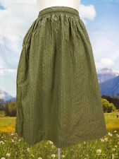 Trachtenrock grün Baumwolle gesmokt mit Ranken herrliche Trachten Rock Gr.34