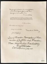 1926 - Lithographie Baker. Lawrence Lowell, Frank Polk, John Rockefeller