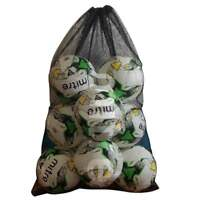 Mitre 10 Ball Black Mesh Net Carry Football, Netball, Rugby Balls Bag