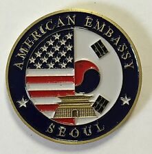 United States American Embassy Seoul South Korea Coin 2""