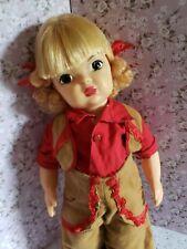 Vintage Strawberry blonde Terri Lee doll in western outfit. Cute!