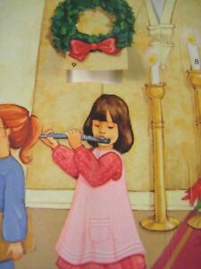 Hallmark Christmas Card Greeting Advent Calendar of Daily Prayers Window