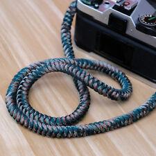 Camo Paracord Camera strap handmade Nylon Rope neck Strap camo fuji sony canon