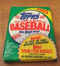 1987 Topps Major League Baseball Cards Sealed Pack Unoppened With Bubble Gum