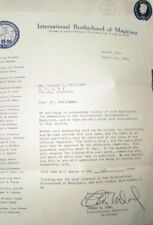 Letter Signed by Thos. Dowd, International Brotherhood of Magicians, Apr. 1964