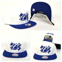 Mitchell & Ness Cleveland Cavaliers White / Royal Blue Puzzle snapback Hat
