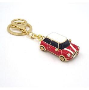 Mini Style Car Keyring Gift Blue/Red/Black Rhinestone Detail GRADE B & C
