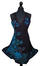 Bohemian Wrap Dress Floral Embroidered Batik Summer Hippie One size 12 14 16 18