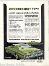 1971 DODGE CHARGER advertisement, Dodge Charger landau roof offer