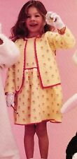 Suited For Spring Girl's Dress & Cardigan Set/Crochet Pattern Instructions Only