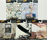 HOT WHEELS LED ZEPPELIN 2020 POP CULTURE COMPLETE 5 CAR SET -ROCK n ROLL!