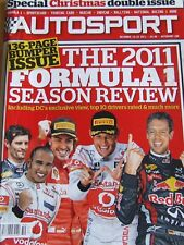 AUTOSPORT MAGAZINE DEC 2011 SPECIAL CHRISTMAS DOUBLE ISSUE FORMULA SEASON REVIEW