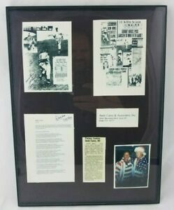 Mickey Mantle Andy Carey Photos News Clippings Framed Collage Scrap Cutouts