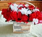 Handmade Needlepoint Plastic Canvas Soft Tissue Box Cover With Roses