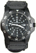Smith & Wesson SWW-32-N Blue Tube Tritium H3 Black Nylon Strap Watch