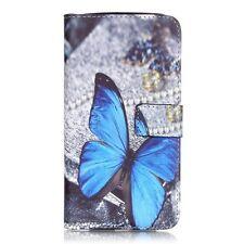 Patterned Flip Leather Wallet Phone Cover for Motorola Moto G4 / G4 Plus - Blue