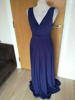 Ladies Dress Size 10 ASOS Purple Long Maxi Party Evening Stretch