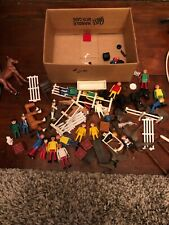 Vintage Playmobil 1974 Ranch Western Cowboy Lot + More Accessories