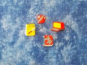 Lot of 4 Resin Secretary Assistant Button Covers very cute