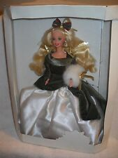 #9500 RARE NIB SAMPLE Holiday Barbie Doll in White Box